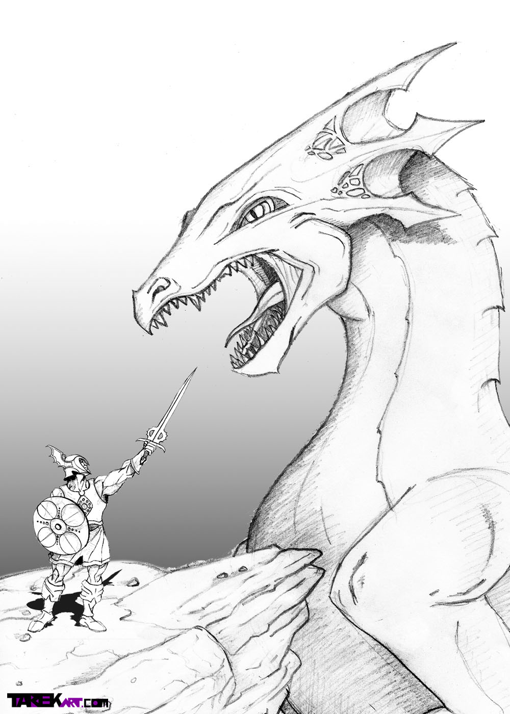 I Added Two New Sketches, One Is Of The Vicious Sky Horde Trooper, And How  To Draw Baby Dragon